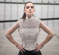 Water Inspired High-Tech 3-D Printed Top: Swim At Your Own Risk  ... see more at InventorSpot.com
