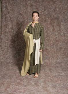 $20.00 Nativity Man #5 black/yellow striped tunic, green & tan striped cape, cream patterned sash