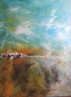 """Saatchi Art Artist Annie Rodrigue; Painting, """"Abdikation terrestre"""" #art"""
