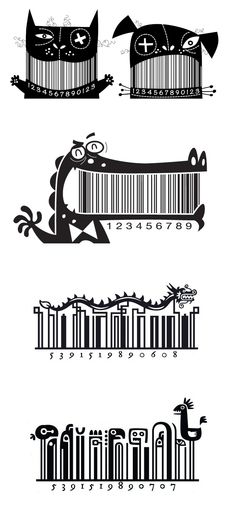 Illustrated Barcodes by Steve Simpson