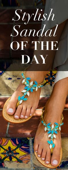 Essential leather jeweled sandals  fashion  ootd  giftideas Chaussure,  Sandales En Cuir Plates 09cc705432f8