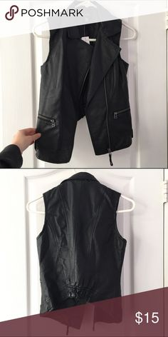 Selling this Black faux leather vest. on Poshmark! My username is: arbaum. #shopmycloset #poshmark #fashion #shopping #style #forsale #Jackets & Blazers