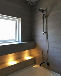 Bath and bask in a decant glow with the top 50 best shower lighting ideas. Explore unique illumination designs for your master bathroom. Bathroom Mirror Lights, Mirror With Lights, Bathroom Lighting, Modern Master Bathroom, Attic Bathroom, Master Bedroom, Shower Lighting, Illuminated Mirrors, Bathroom Inspiration