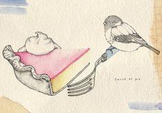 Love her little bird illustrations