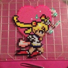 Sailor Moon perler beads by darbygasm  I don't know how this made it onto pinterest, but I actually made this. haha