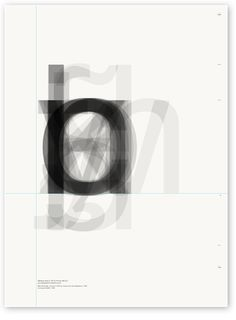 Posters created by superimposing the lowercase letters of one typeface, in this…