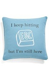 Levtex 'I Keep Hitting ESC' Pillow