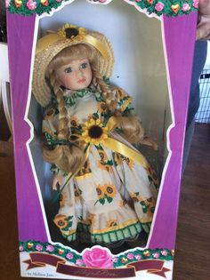 Abigail Rose By Melissa Jane 1996 Porcelain Doll Collectible