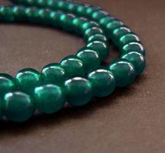 Persian Green Jade - Smooth Round - 6mm