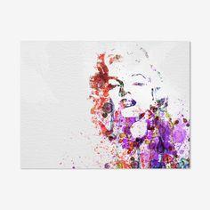 Marilyn Monroe Watercolor Digital Print by Naxart Studio