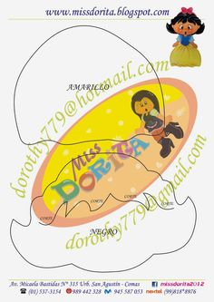 Miss Dorita: Moldes Lampara Blanca Nieves