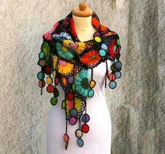 Crochet. Pañuelo artesanal