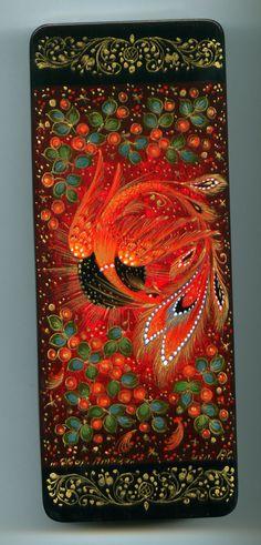 "Russian Lacquer Box Palekh ""Firebird"" Hand Painted | eBay"