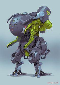 Нарисованные роботы от Brian Sum