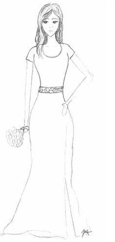 Anime Girl Dress Des... dress drawing designs | drawings ...