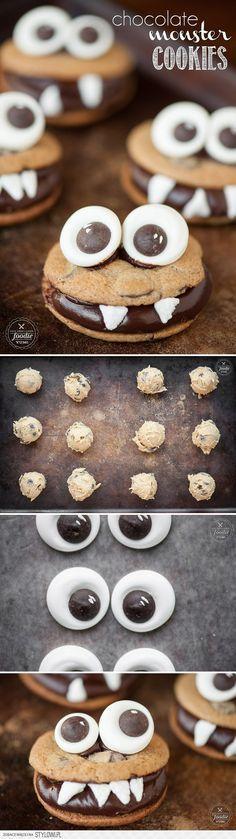 Chocolate Monster Cookies - Self Proclaimed Foodie na Stylowi.pl