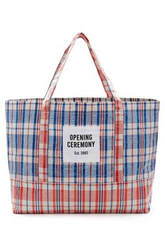 Opening Ceremony | Large Plaid Tote Bag | Opening Ceremony