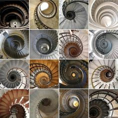 Spiral Staircases (by Bella Luna Creative) From Interior Alchemy Staircase Railings, Staircase Design, Stairways, Spiral Staircases, Art And Architecture, Architecture Details, Stairs To Heaven, Beautiful Stairs, Fibonacci Spiral