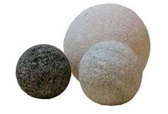 "Stone Sphere Grouping Style#11109- NS12; Large (4""Dia), Medium (3""Dia), & Small (2""Dia) – Price $90/set (shipping, not included) – Bring the natural element of stone into your Zen space with this grouping of 3 carved stone spheres.  For more information, please inquire via info@blueleafmiami.com or visit our website: www.blueleafmiami.com"