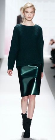 Deep green from the fashion runway