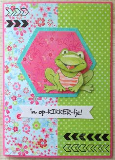 LindaCrea: Opkikkertjes #4 - Happy Colors Labels, Marianne Design, Animal Cards, Happy Colors, Frogs, I Card, Card Ideas, Birthday Cards, Stamp