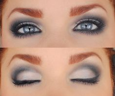 Don't be afraid to use color to create a smokey eye. Smokey eyes don't have to be just black or brown. You can see navy and plum in this one. Gorg!