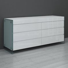 buy the casabianca furniture ii vetro 6 drawer dresser with a white hight gloss for casabianca furniture dolce collection lacquer dresser white