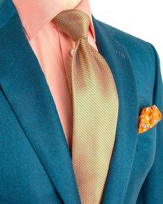 Brioni | Teal Twill Sportcoat | Apparel | Men's