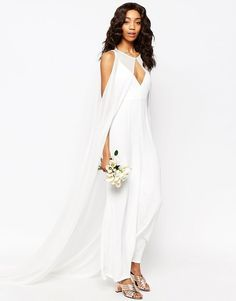 A Caped Jumpsuit - Edgy and Elegant Wedding Suits for the Alternative Bride - Photos