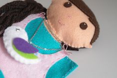 Doll puppet  - dolls, pretend play, handmade doll, hand puppets, turquoise  - by KinkinPuppets on Etsy
