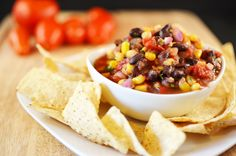 This southwest salsa adds black beans and corn to take the salsa to the next step. Its got tons of flavor and tastes great with chips or in your favorite mexican recipes. #lmldfood