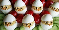 Veľkonočné kuriatka z vajíčok - Receptik. Sushi, Menu, Eggs, Breakfast, Ethnic Recipes, Ale, Food, Fun Recipes, Menu Board Design