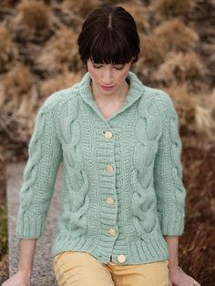 NobleKnits.com - Berroco Kodiak Perine Cardigan Knitting Pattern