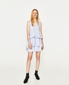 ZARA - WOMAN - SLEEVELESS FRILLY DRESS...theres something very pretty and young bout this dress..would suit for petite