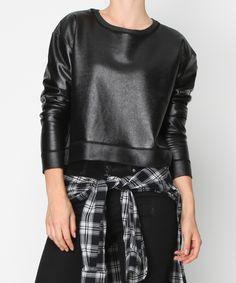 Shiny metallic black jumper Evil Twin - Black List Jumper from General Pants Co.