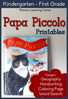 set of Papa Piccolo Printables for Kindergarten-First Grade literature-based unit study Social Studies Notebook, Teaching Social Studies, Hands On Activities, Book Activities, Homeschool Kindergarten, Preschool, Homeschooling, How To Speak Italian, Montessori
