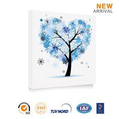 Famoso quarto padrão de árvore abstrato pintura em tela decorativa