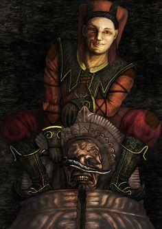 Sweet Cicero by Meadowgrove on DeviantArt Skyrim Game, Skyrim Funny, Elder Scrolls Lore, Elder Scrolls Skyrim, Skyrim Drawing, Cicero Skyrim, Scrolls Game, Dark Brotherhood, My Fantasy World