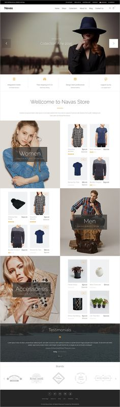 Navas is beautifully design responsive #Opencart theme for multipurpose #boutique #fashion #shopping online eCommerce website with 8 stunning homepage layouts download now➩ https://themeforest.net/item/navas-responsive-opencart-theme/17375396?ref=Datasata