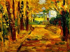 Park of St. Cloud – Autumn,1906,by Wassily Kandinsky