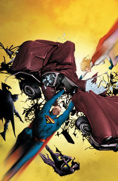 Batman and Superman vs Huntress and Power Girl by Jae Lee