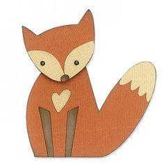 Sizzix Thinlits Schablonen-Set, Fuchs, Fox, Gestaltungsbeispiel