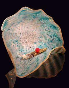 Glass Wall Sculpture, Glass Flower Wall Art, Blown Glass Platters and Hand Blown Glass Wall Installations
