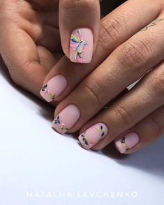 Nail art is a very popular trend these days and every woman you meet seems to have beautiful nails. It used to be that women would just go get a manicure or pedicure to get their nails trimmed and shaped with just a few coats of plain nail polish. Pink Manicure, Matte Nails, My Nails, Nude Nails, Spring Nails, Summer Nails, Acrylic Nail Designs, Nail Art Designs, Nails Design