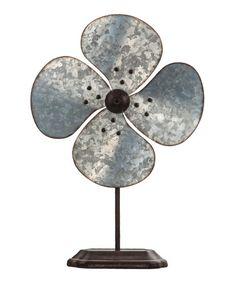 Another great find on #zulily! Galvanized Metal Garden Fan #zulilyfinds