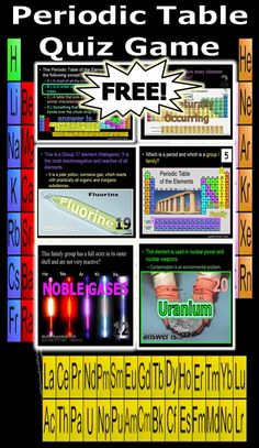 Element bingo uncommon courtesy 5th grade science pinterest this is a free 150 slide powerpoint quiz game about the periodic table of the elements urtaz Images