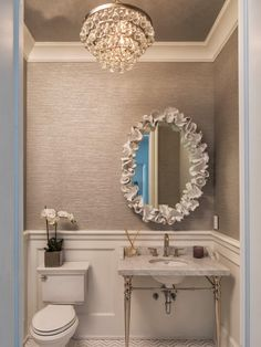 You could make this mirror frame with air-drying clay.