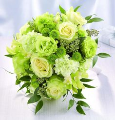 Ramo colores verdes http://boda20.com/2014/10/22/ramos-de-novia-en-verde/
