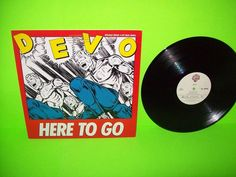 """Devo – Here To Go 1985 Vinyl 12"""" EP Record SynthPop New Wave PROMO Scarce NM #ElectronicaSynthPop"""