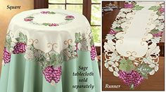 Vintage Grapevine Vineyard Table Linens Square